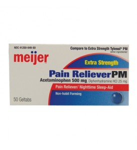 ACETAMINOPHEN PM 50 CT 500 MG EXTRA STRENGTH