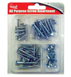 ALL PURPOSE SCREWS APPROXIMATELY 70 PCS ASSORTED