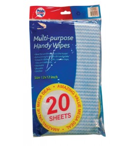 ALL-PURPOSE HANDY WIPES 20 SHEETS 12 X 12 INCH
