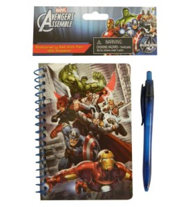 AVENGERS NOTEBOOK + PEN SET 60 PAGE 4 X 6 INCH MINI