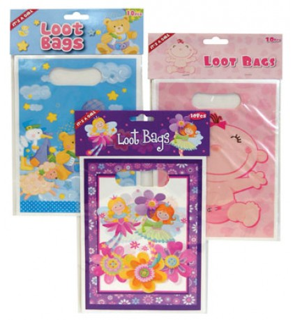 BABY LOOT BAGS 10 PC ASSORTED DESIGNS
