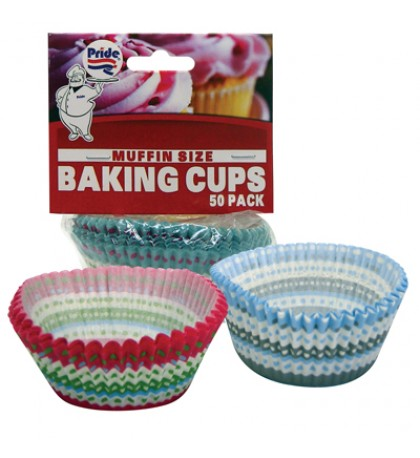 BAKING CUP 50 COUNT MUFFIN SIZE ASSORTED WINTER COLLECTION