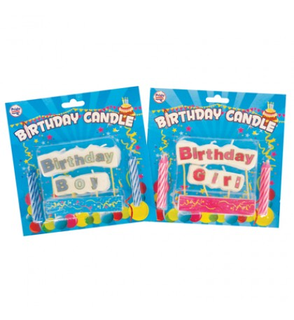 BIRTHDAY CANDLE CAKE DECOR FOR BOYS-GIRLS