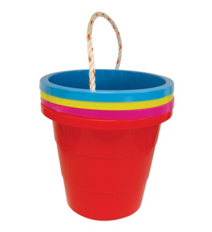 BUCKET 1.5 GALLON WITH ROPE ASSORTED COLORS