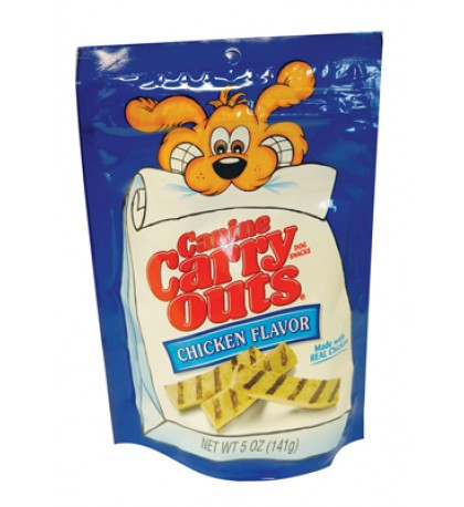 CANINE CARRYOUTS DOG TREAT 5 OZ CHICKEN FLAVOR