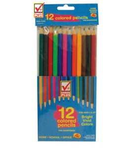 CHECK PLUS COLORED PENCILS 12 COUNT