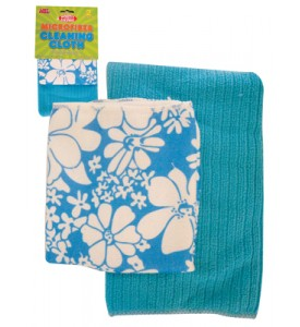 CLEANING CLOTH 2 PACK 12 X 16 & 16 X 19 INCH MICROFIBER