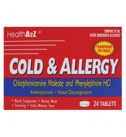 COLD AND ALLERGY 24 TABLETS