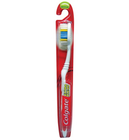 COLGATE TOOTHBRUSH MEDIUM BRISTLES EXTRA CLEAN ASSORTED COLORS