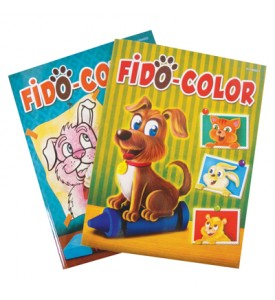 COLORING BOOK 96 PG FIDO ASSORTED VOLUMES