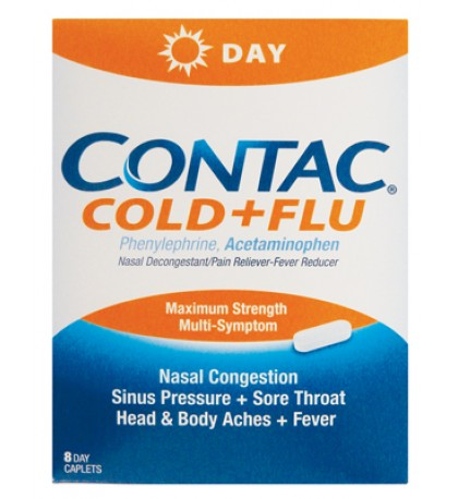 CONTAC COLD+FLU 8 COUNT
