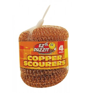 COPPER SCOURER 4 PACK 15 GRAMS IN NET BAG
