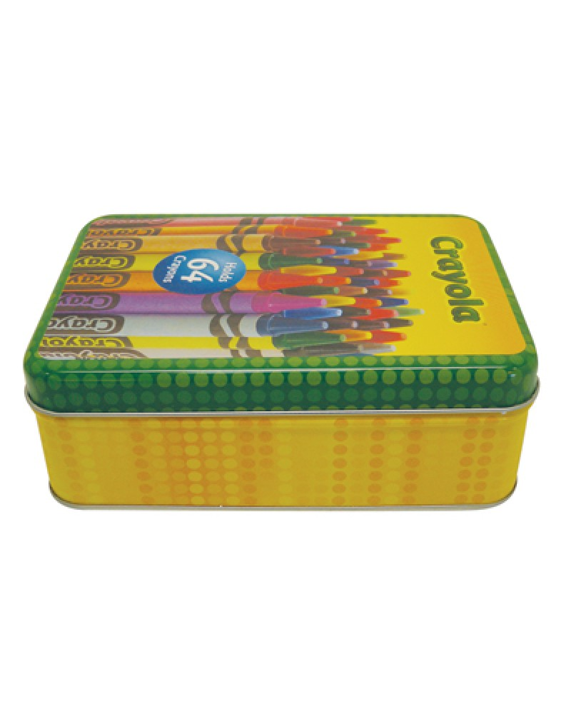 sc 1 st  Juniors Food Truck & CRAYOLA CRAYON STORAGE TIN 6 X 4 X 2 INCH HOLDS 64 CRAYONS IN DISPLAY