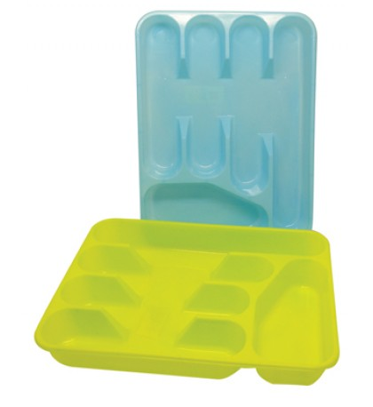 CUTLERY TRAY 13 X 10 INCHES ASSORTED COLORS