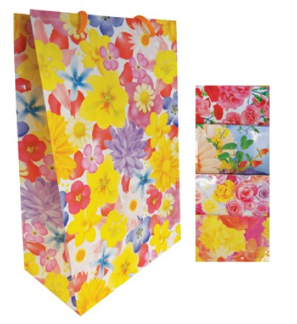 EVERYDAY GIFT BAG 16 X 24 INCH SUPER JUMBO ASSORTED FLOWER DESIGNS