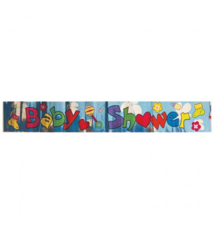 FOIL BANNER 4 X 68 INCH BABY SHOWER ASSORTED DESIGNS