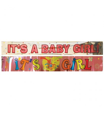 FOIL BANNER 4 X 68 INCH IT'S A GIRL