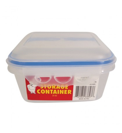 FOOD CONTAINER 22 OZ WITH SNAP ON LIDS
