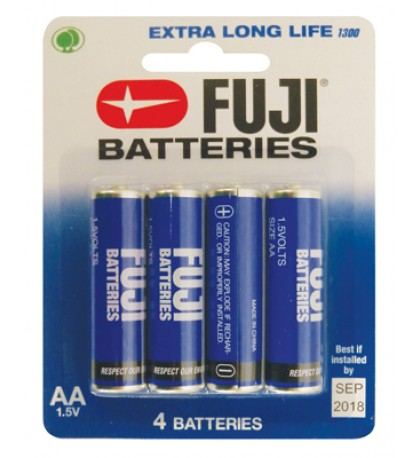FUJI BATTERY AA 4 PACK EXTRA LONG LIFE