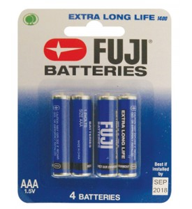 FUJI BATTERY AAA 4 PACK EXTRA LONG LIFE