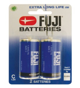 FUJI BATTERY C 2 PACK EXTRA LONG LIFE