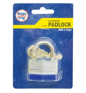 LAMINATED PADLOCK 1.50 INCH WITH 2 KEYS