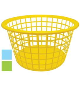 LAUNDRY BASKET 16 X 9.5 INCH ASSORTED COLORS