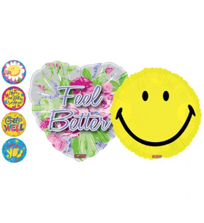 MYLAR BALLOON 18 INCH GET WELL SOON