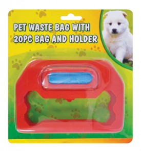 PET WASTE BAG 20 PC WITH HOLDER