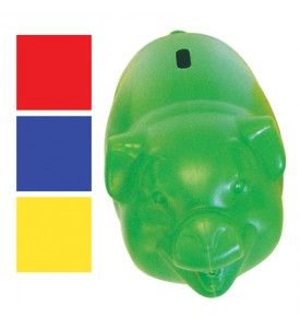 PIGGY BANK 9.5 X 5 INCH ASSORTED COLORS