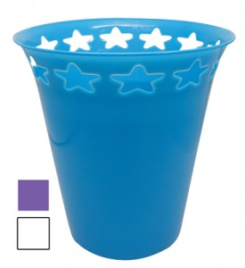 PLASTIC WASTE BIN 1.25 GALLON ASSORTED COLORS & DESIGNS