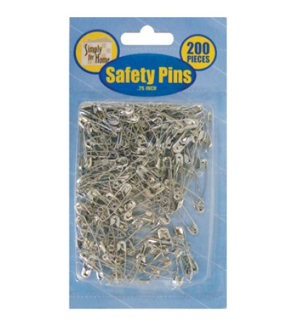 SAFETY PIN 200 PIECE 0.75 INCH