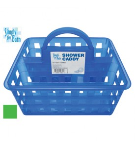 SHOWER CADDY 10 X 8.5 X 4.5 INCH GREEN BLUE