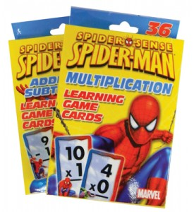 SPIDERMAN FLASHCARDS 36 CT ADDITION & SUBTRACTION