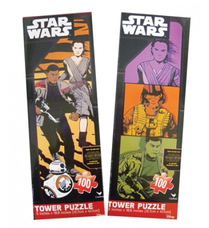 STAR WARS TOWER PUZZLE 100 PIECE 5 X 18.8 INCH ASSORTED DESIGNS