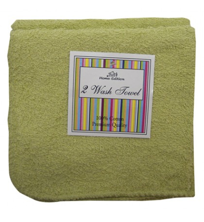 WASH CLOTH 2 PACK 12 X 12 INCH COTTON COLORS MAY VARY