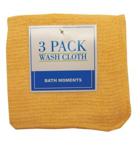 WASH CLOTHS 3 PACK 11 X 11 INCH COTTON COLORS MAY VARY