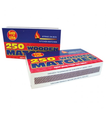WOODEN KITCHEN MATCHES 2 PACK 250 COUNT