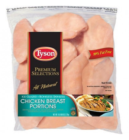 Tyson Frozen Boneless Skinless Breasts 6 lb bag